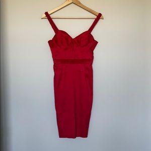Red ZAC POSEN mini dress